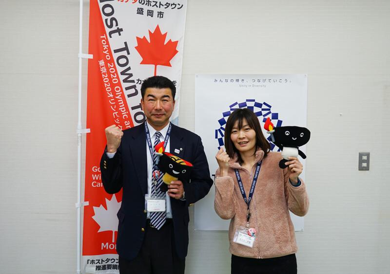 スポーツツーリズム推進室の坂本室長と佐々木さん
