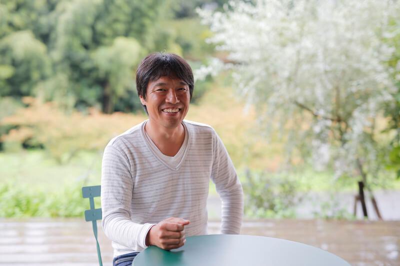 インタビューに応える和歌山県紀美野町の宇城さん