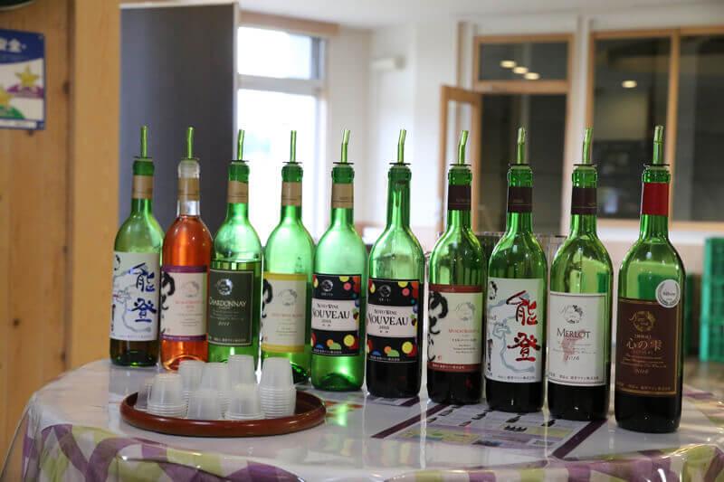 国産ワインコンクールをはじめ、数々の賞を受賞している能登ワイン