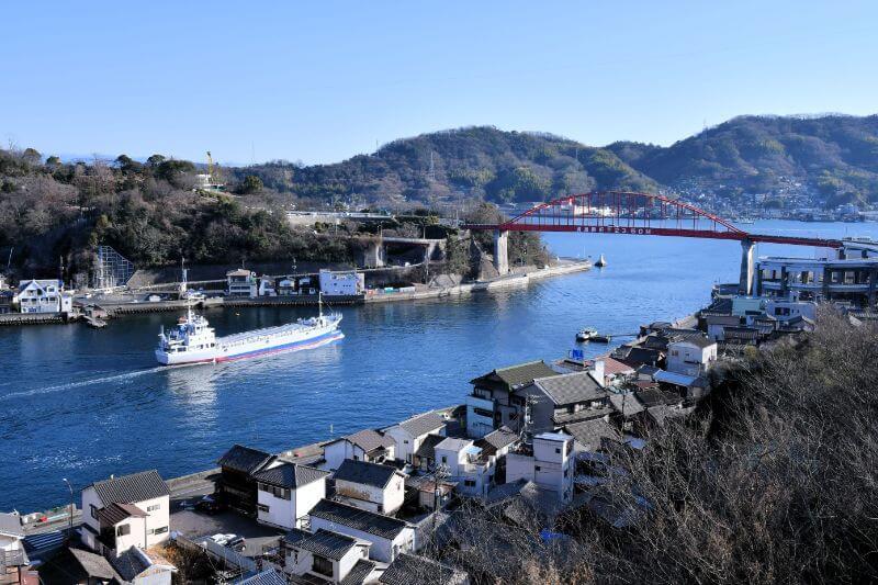 第二音戸大橋から眺める音戸の瀬戸は、数田さんや沖元さんのお気に入りの風景