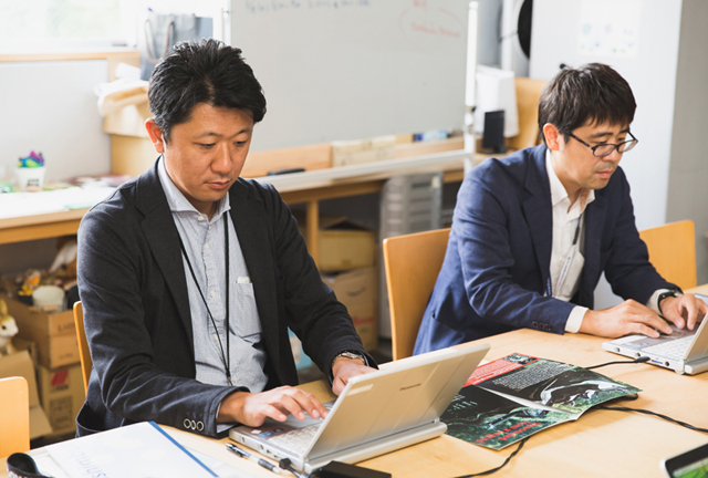 まちづくり企画班の細川さん(左)と高島さん(右)
