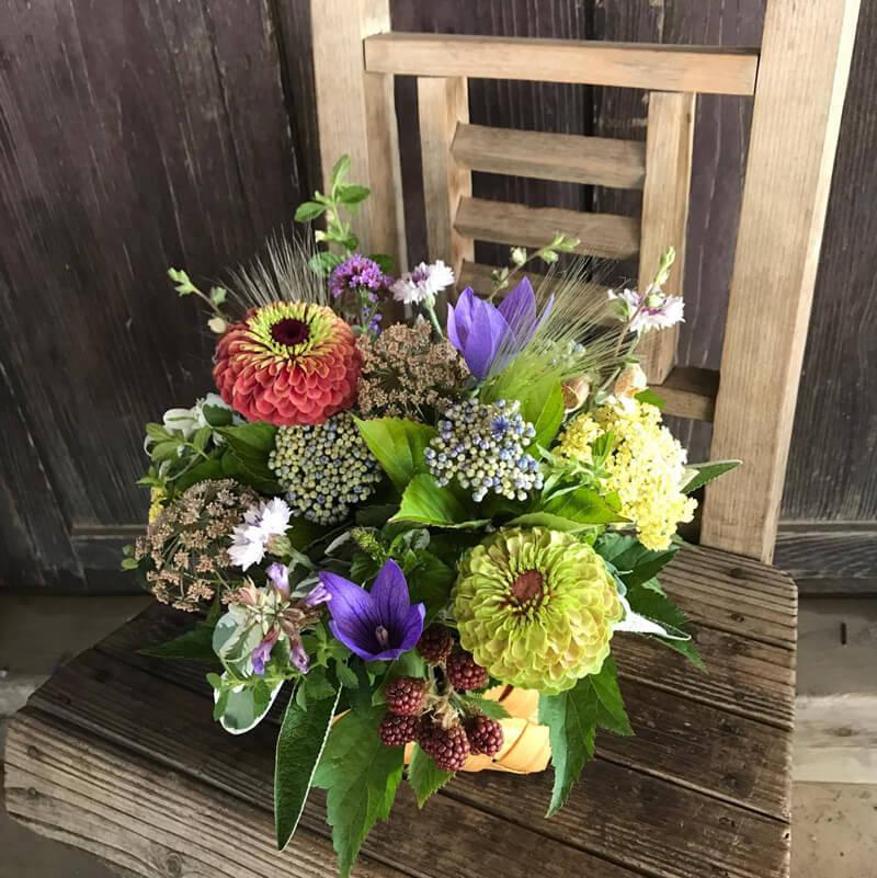 岡居さんの生け花