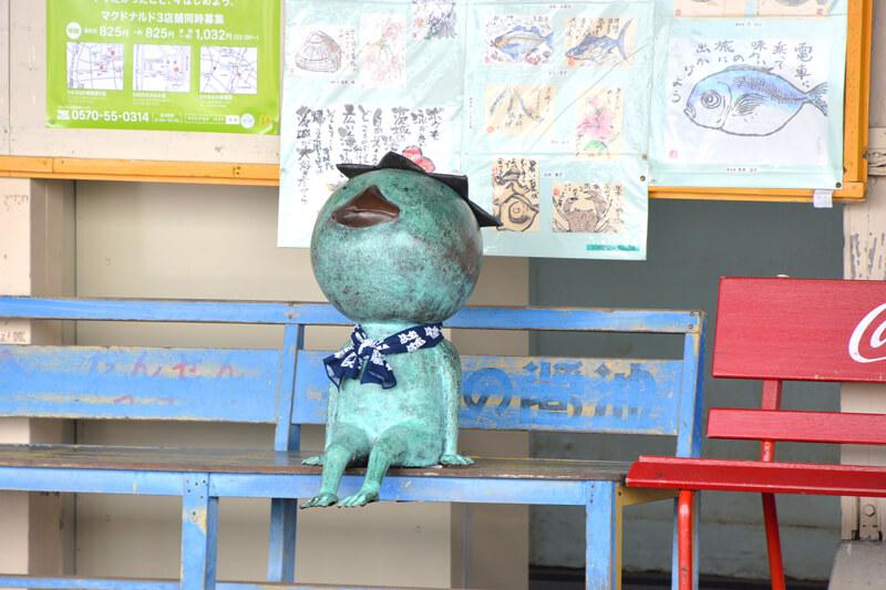 那珂湊駅のカッパ