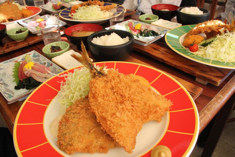 波留菜亭 鯵フライ定食