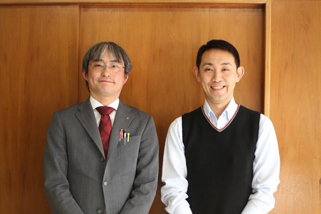 いらっしゃい葛巻推進室の兼平俊亮さんと吉澤晴之さん
