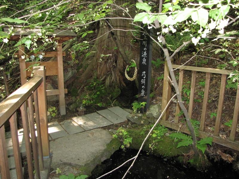 北上川の源泉「ゆはずの泉」