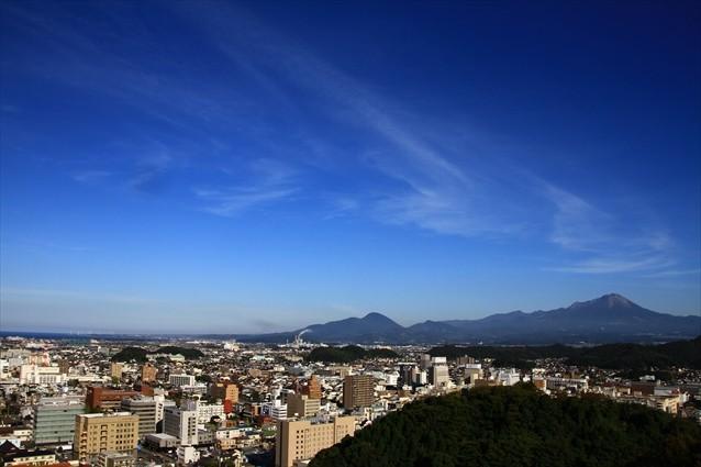 米子城跡からの眺め