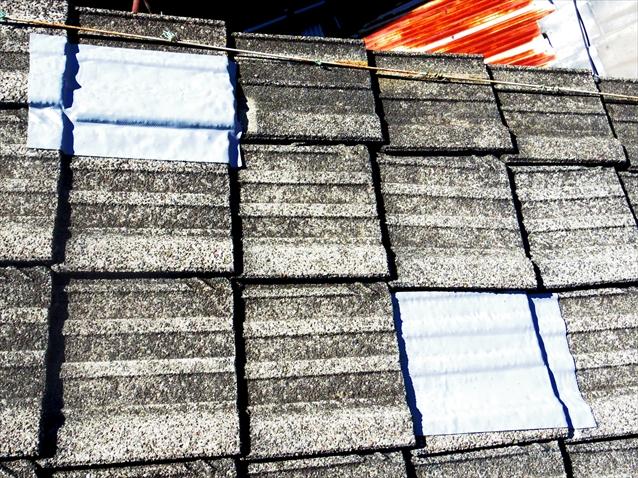 修理した屋根