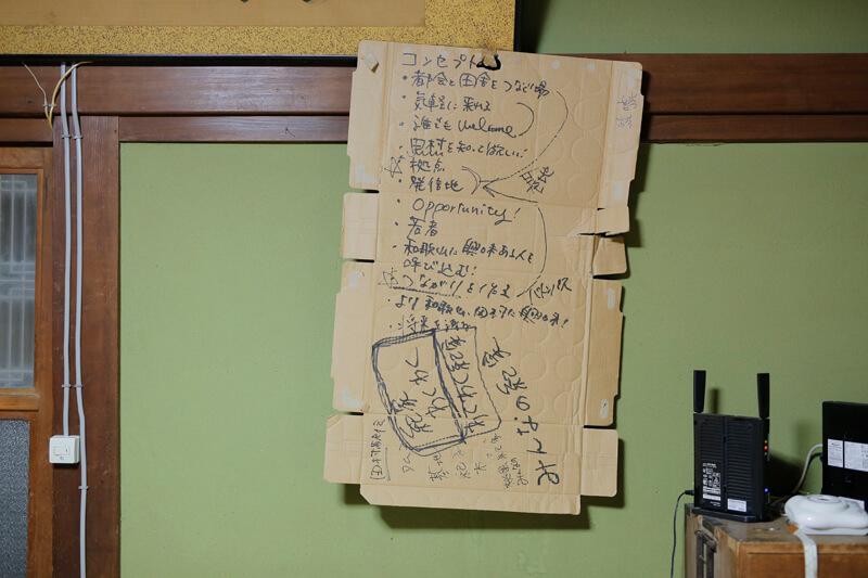 「紀家(きち)」の壁に貼られたコンセプト