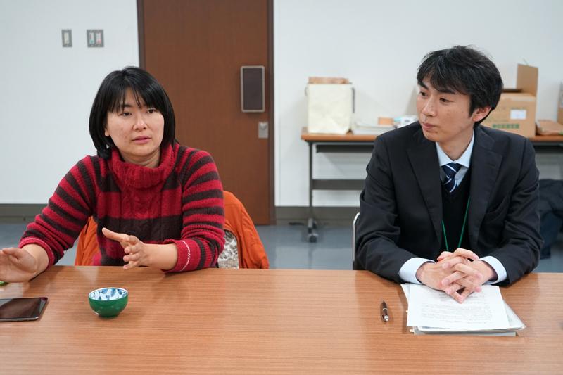 大ケ生地域の協力隊池内さんと農政課の高橋さん