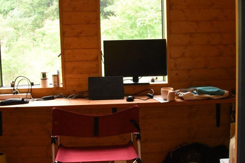 川鍋さんの仕事スペース