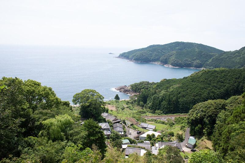 波田須地区にある徐福茶屋からの眺め