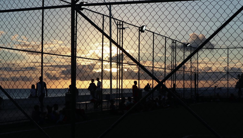 ブラジル夕焼けサッカー