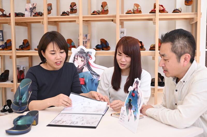 渡邉哲意(わたなべてつい)教授、和田歩美さん,水鳥友紀子さん