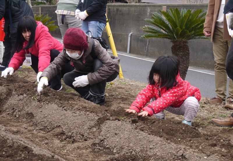 土の環で農業体験