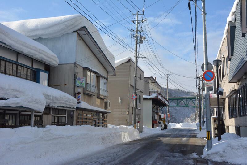 西和賀町の雪の様子