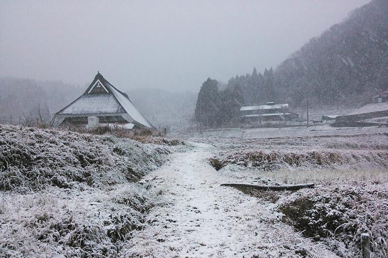 上世屋の冬の風景