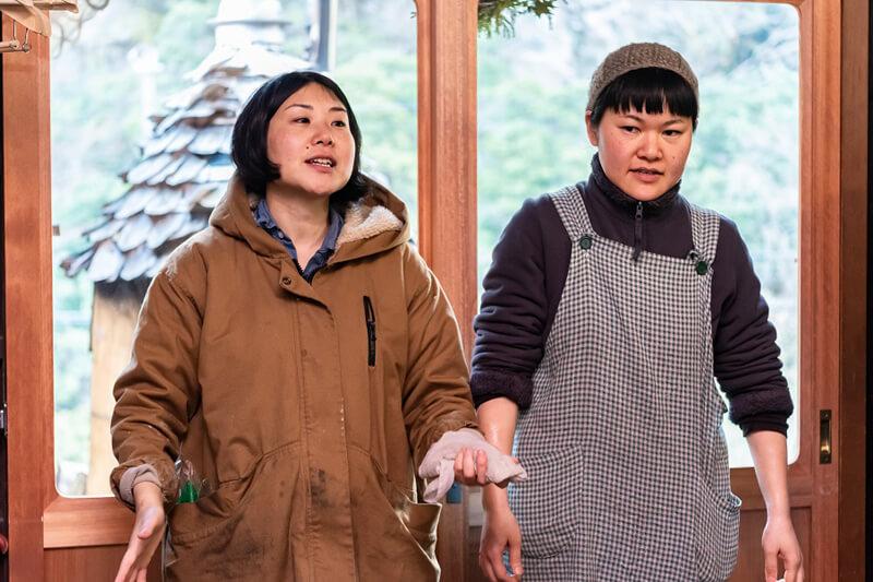 元協力隊員第一期生(平成25年)の美穂さんと、第三期生(平成27年)の寛人さん