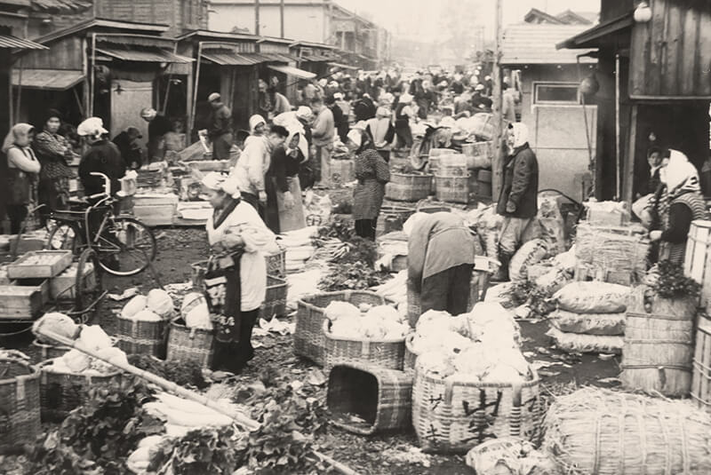 昭和30年代の沼垂市場