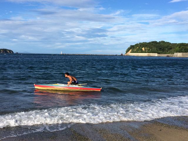 自作のボート