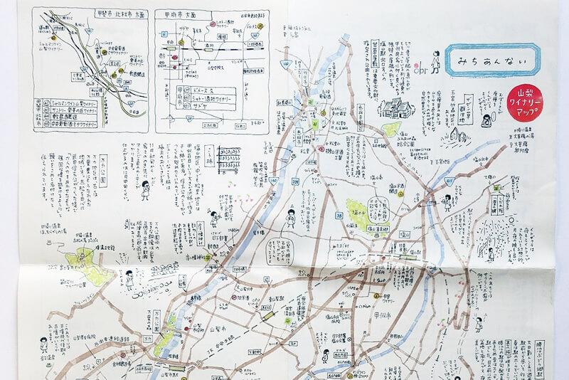 山梨ワイナリーマップ