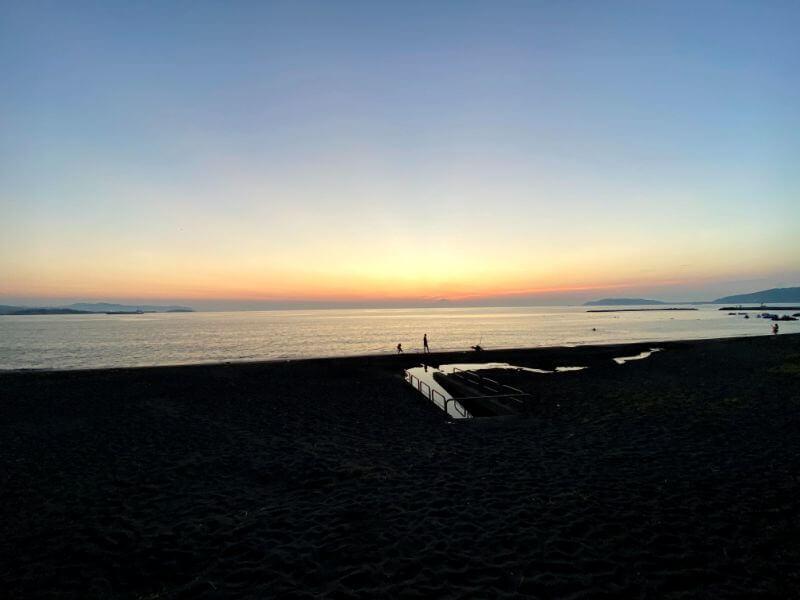 城谷さんが撮影した、館山の北条海岸から見た景色