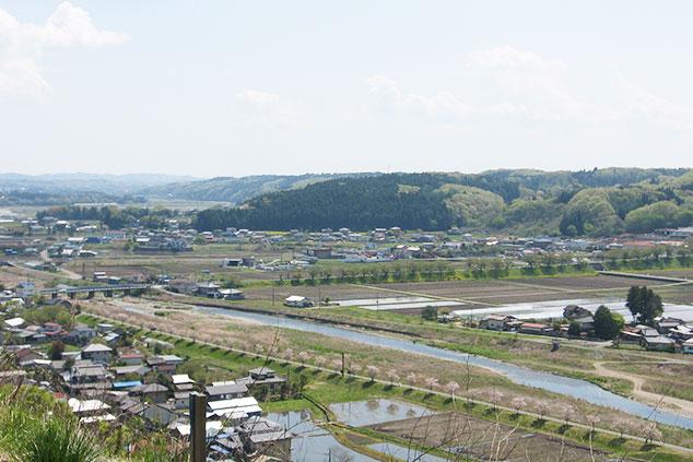喜連川エリアの俯瞰写真