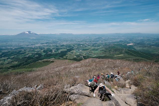 姫神山頂上付近