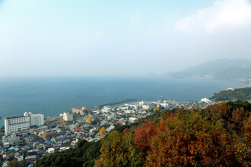 高台から望む小浜