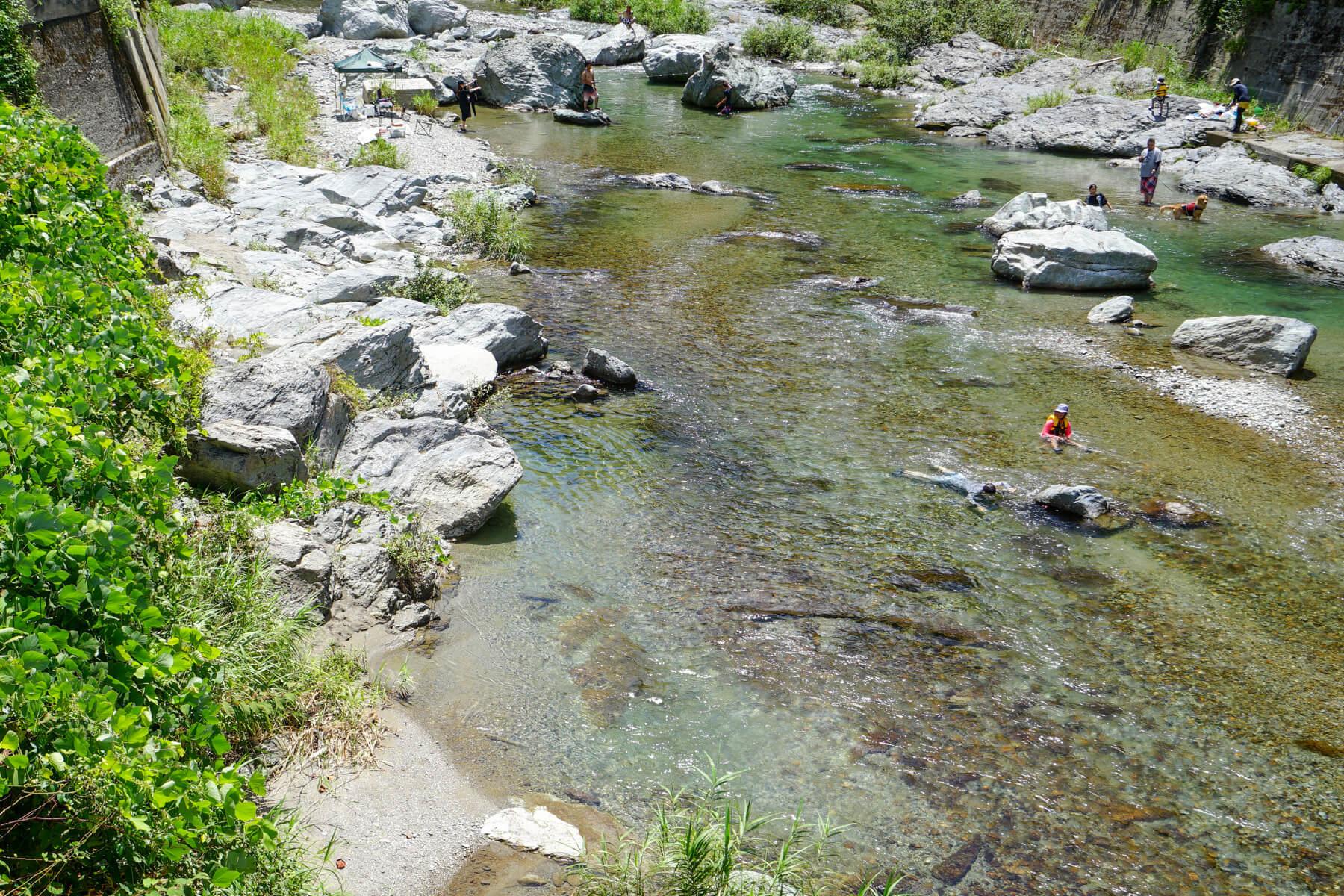 目の前の川
