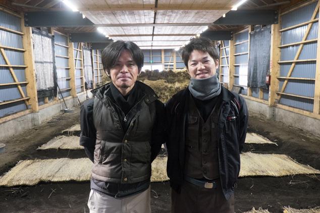 八木橋順さん(左)と八木橋祐也さん(右)