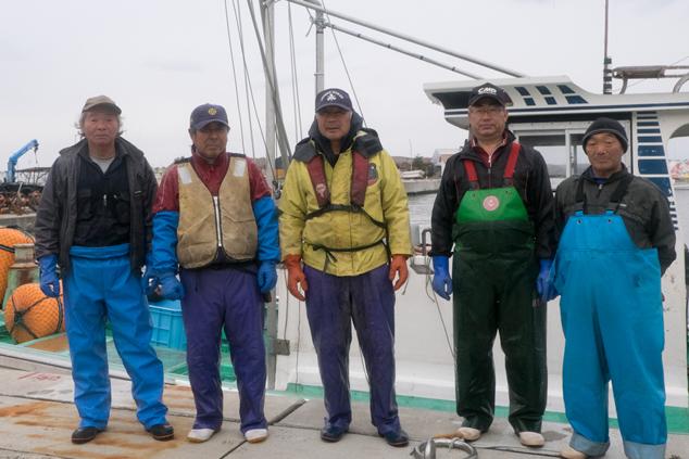 取材にご協力いただいた漁師の皆さん