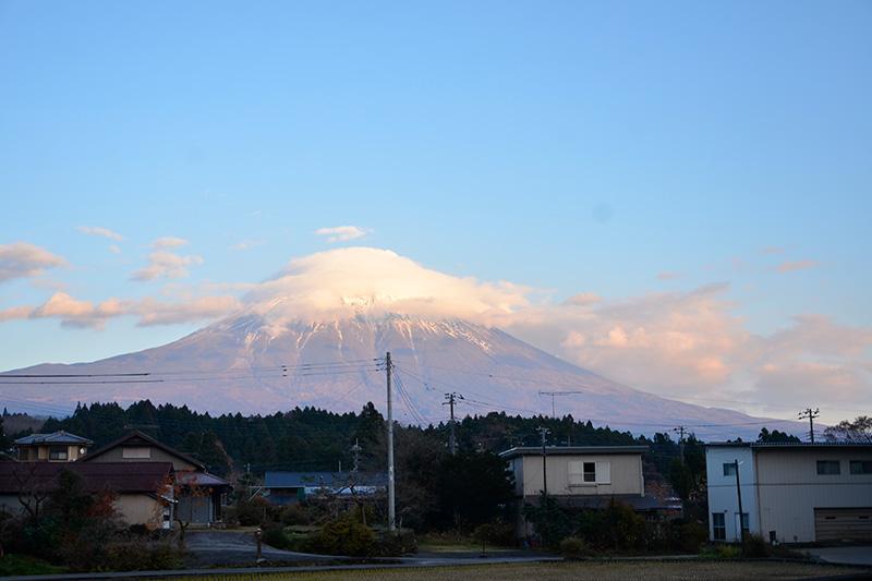 富士山を眺めながら暮らす