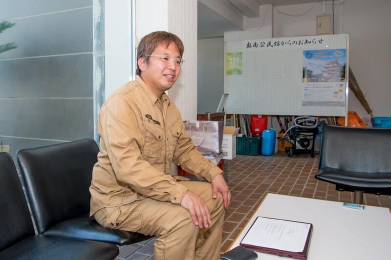 「宇和島奥南エンゲージメント」の代表 渡部武士さん