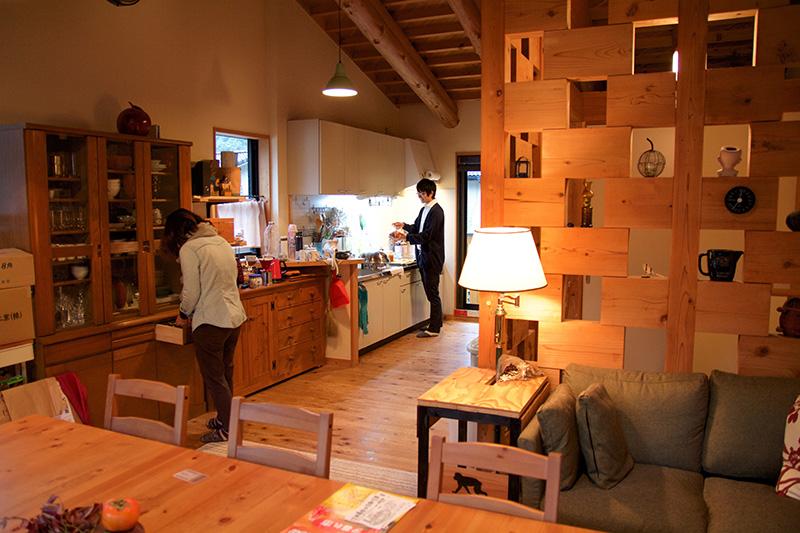 紀州材がふんだんに使用されている居住スペース