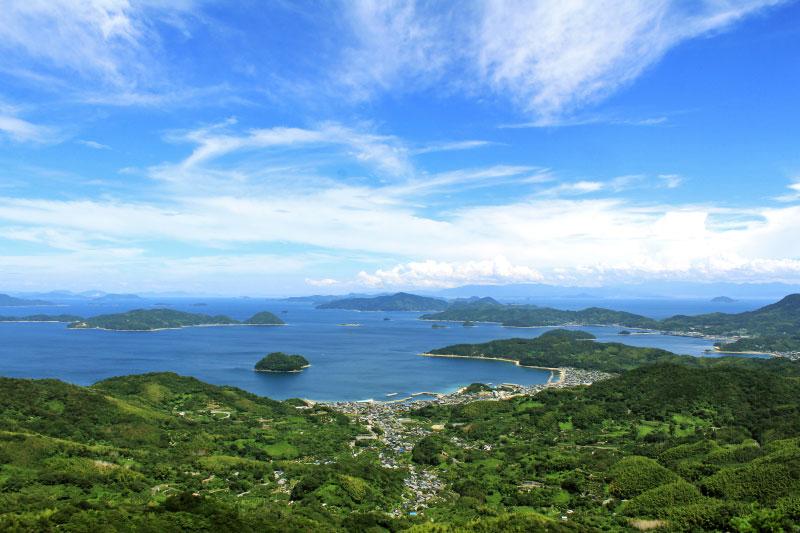 周防大島から臨む海