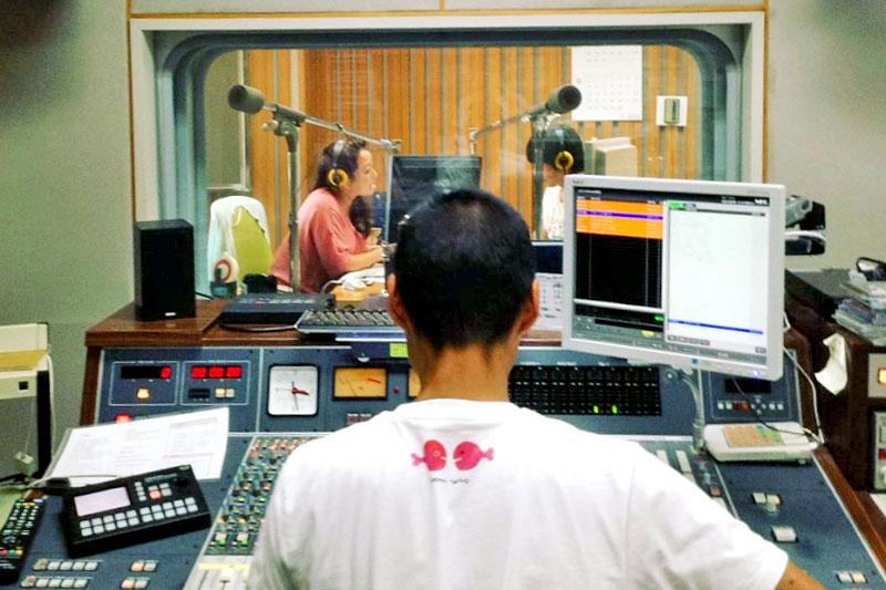 ラジオの収録の様子