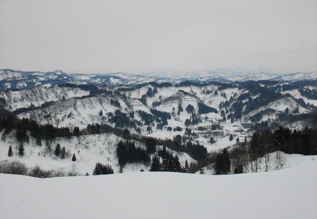 山々雪景色